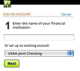 Existing Account Setup
